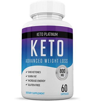 KETO PLATINUM Pills Ketogenic Weight Loss Supplement - 60 Capsules
