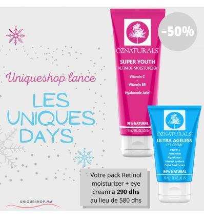 PROMO HAPPY UNIQUE DAYS PACK OZ NATURALS Eye cream + Retinol Cream