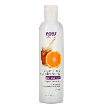 Now Solutions Vitamin C & Manuka Honey Gel Cleanser 237ml