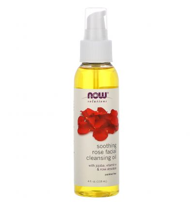 Now Foods Solutions Soothing Rose Facial Cleansing Oil 118ML