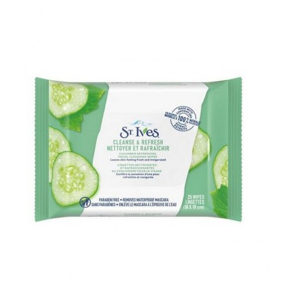 St. Ives Facial Cleansing Wipes Cucumber Refreshing 25CT